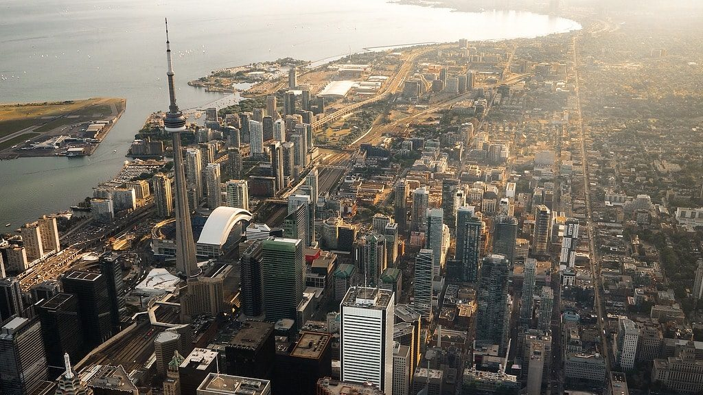 Arial view of Toronto commercial insurance