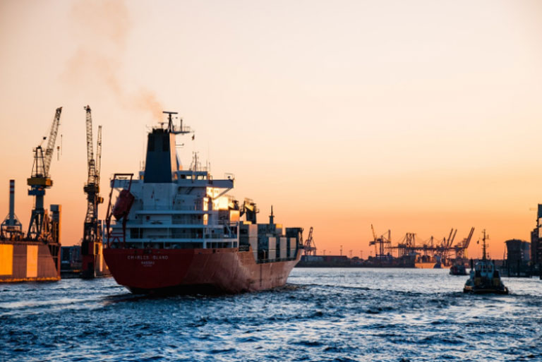 Cargo ship with marine insurance in toronto