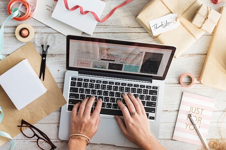 Image of online seller managing orders