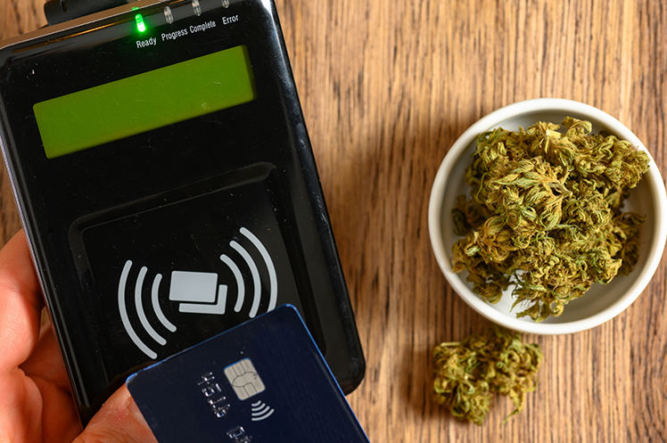 Making a purchase at a cannabis store