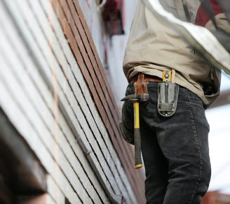 Cropped image of a contractor at work