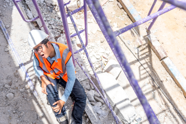 A worker is injured at a construction site